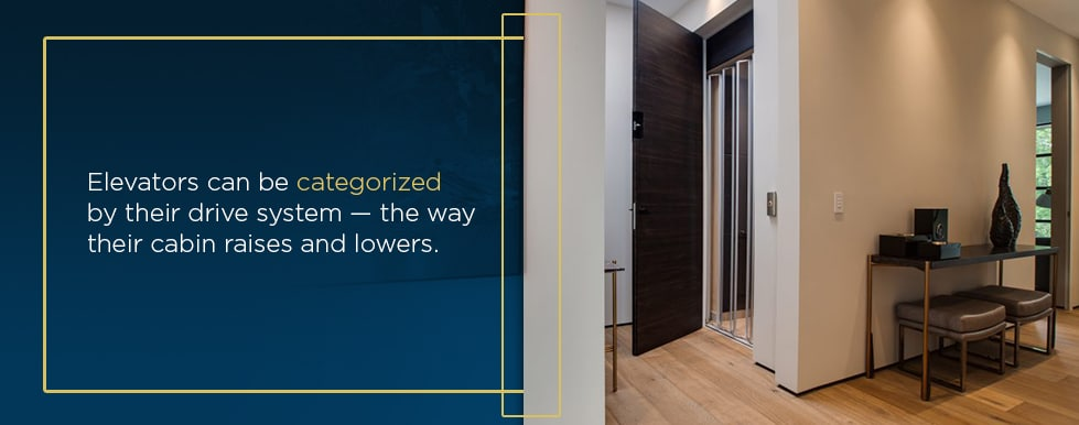 different types of home elevators