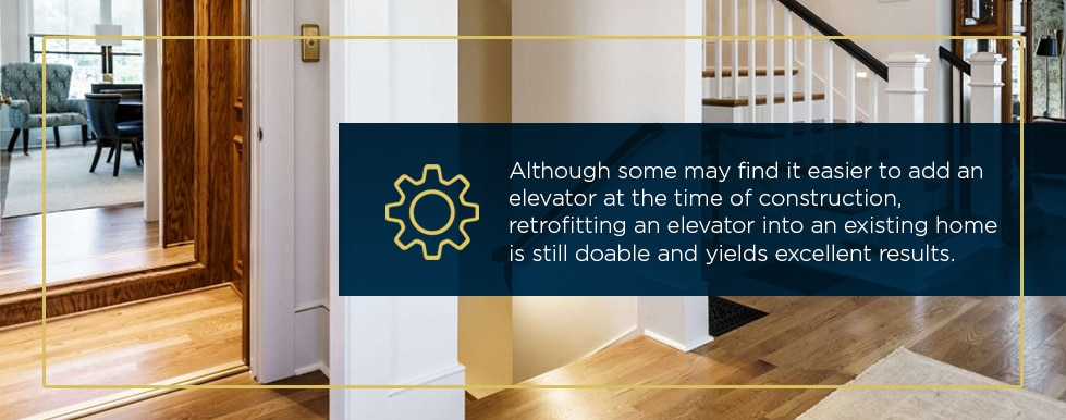 retrofitting a home elevator