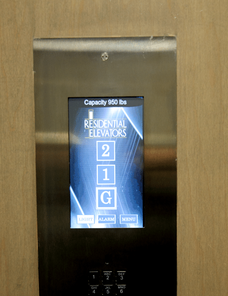 Touchscreen Car Operating Panel for a Home Elevator