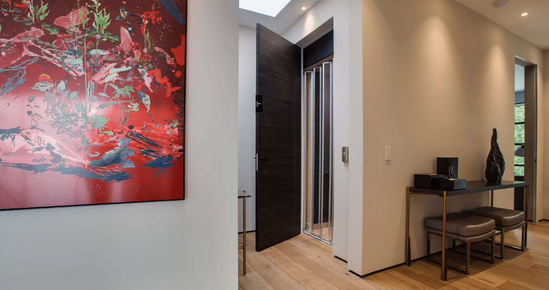 home elevator installed in home