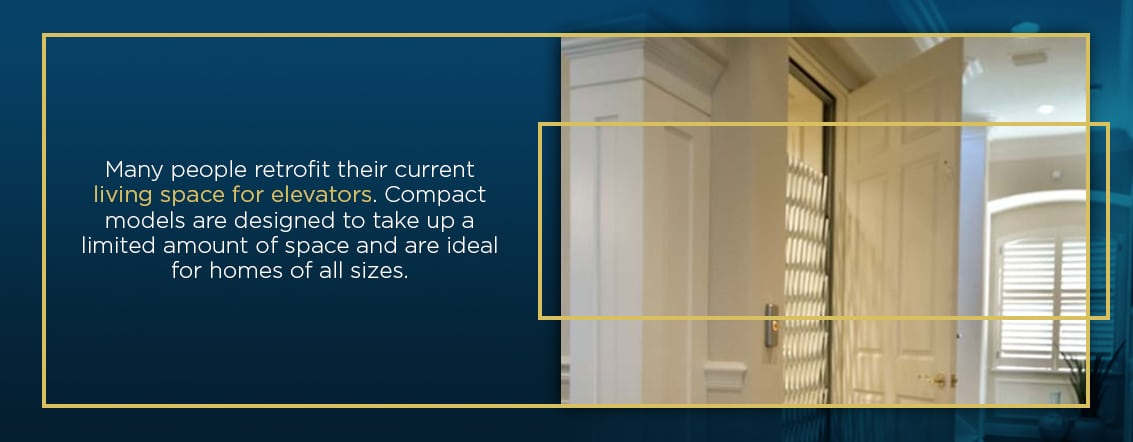 can you retrofit a home for an elevator