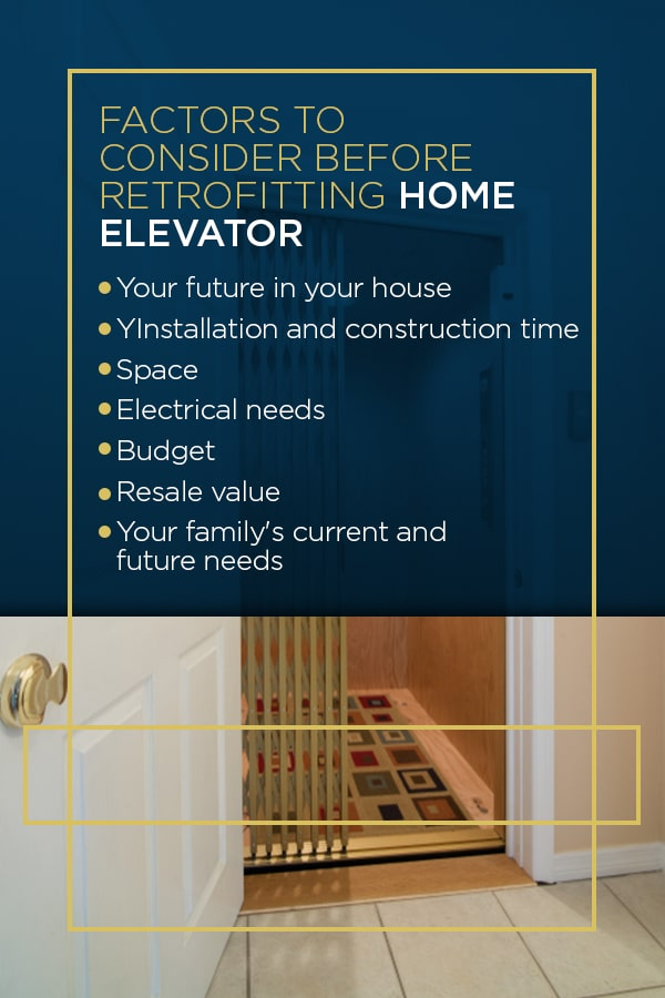 factors to consider before home elevator installation