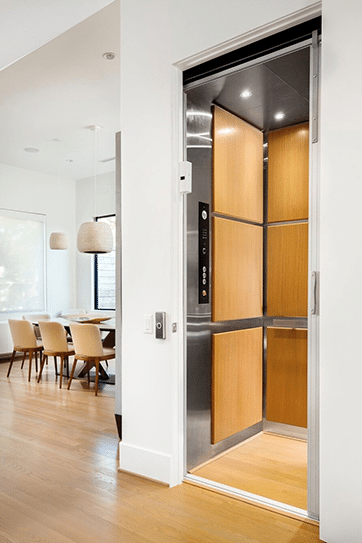 Our Stainless Series Home Elevator with a Unique Finish